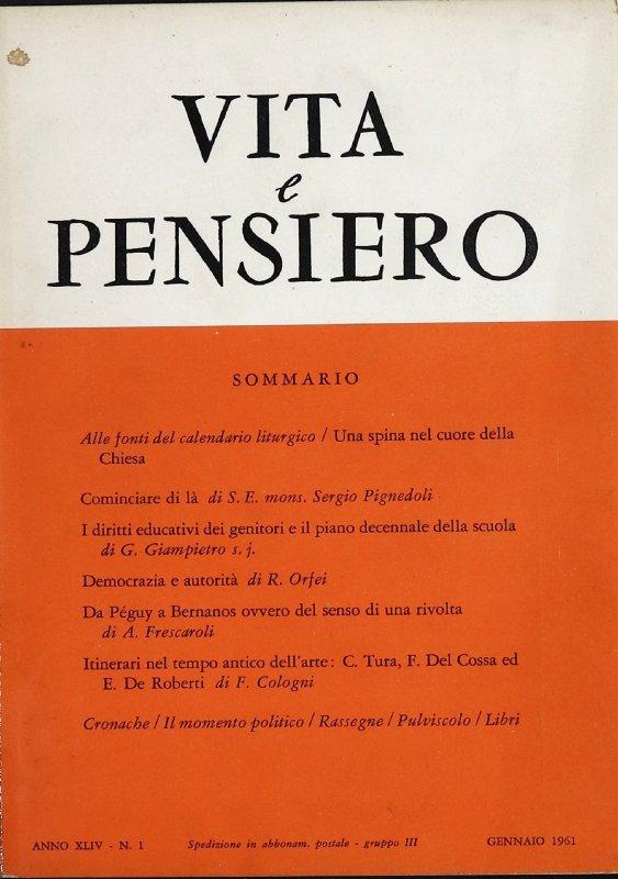 VITA E PENSIERO - 1961 - 1