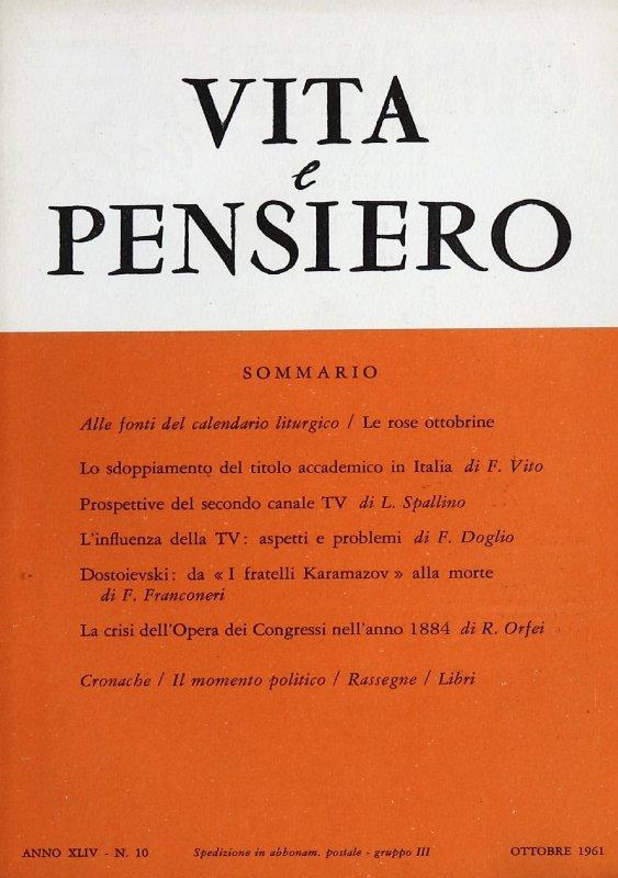 VITA E PENSIERO - 1961 - 10