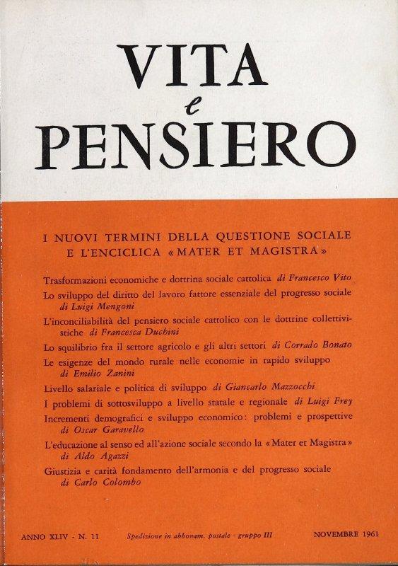 VITA E PENSIERO - 1961 - 11