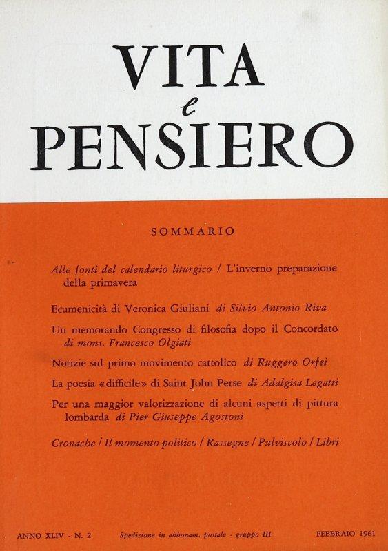 VITA E PENSIERO - 1961 - 2
