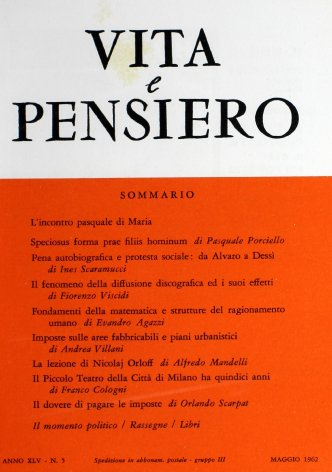 VITA E PENSIERO - 1962 - 5