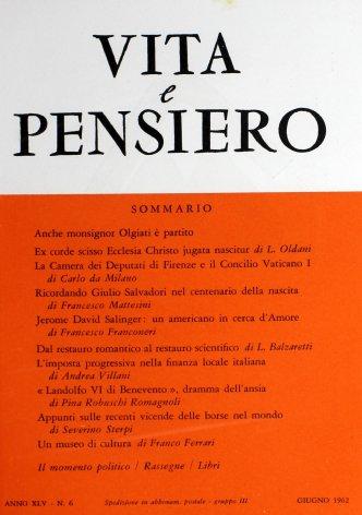 VITA E PENSIERO - 1962 - 6