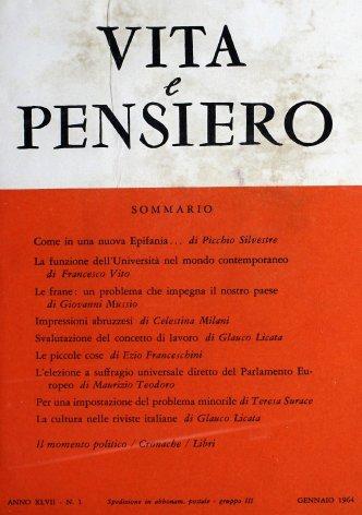 VITA E PENSIERO - 1964 - 1