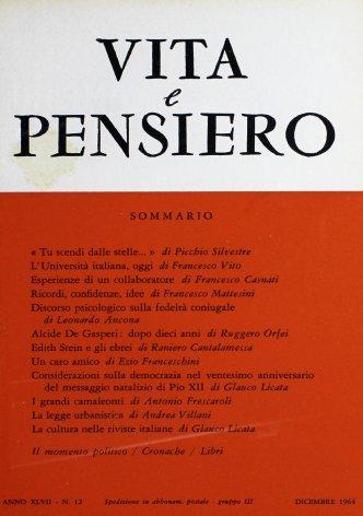 VITA E PENSIERO - 1964 - 12