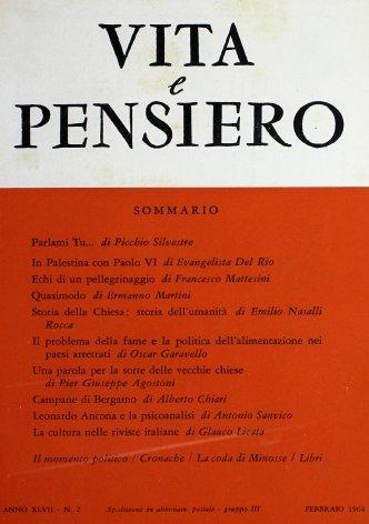 VITA E PENSIERO - 1964 - 2