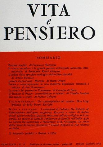 VITA E PENSIERO - 1965 - 7-8