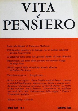 VITA E PENSIERO - 1966 - 1