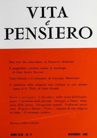 VITA E PENSIERO - 1966 - 11