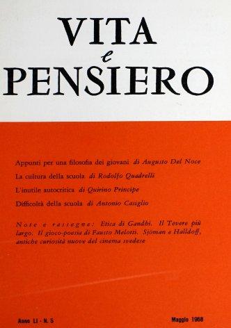 VITA E PENSIERO - 1968 - 5