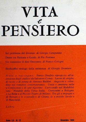 VITA E PENSIERO - 1969 - 12