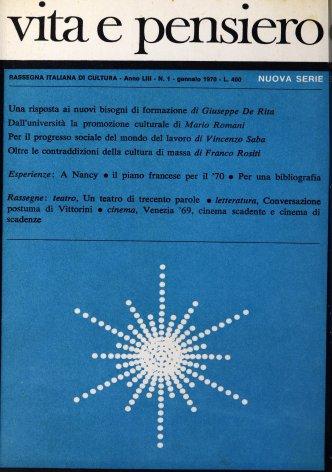 VITA E PENSIERO - 1970 - 1