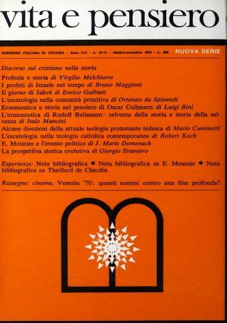 VITA E PENSIERO - 1970 - 10-11