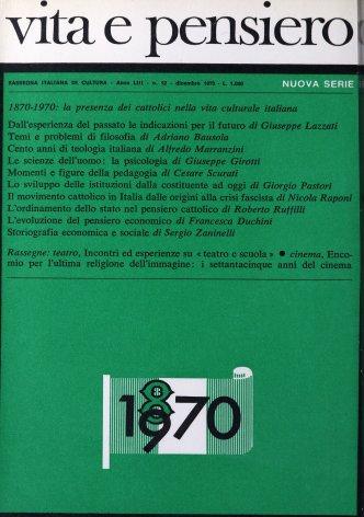 VITA E PENSIERO - 1970 - 12