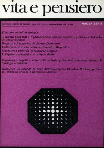 VITA E PENSIERO - 1970 - 8-9