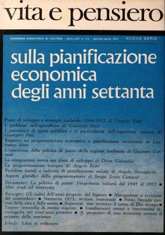 VITA E PENSIERO - 1974 - 1-2