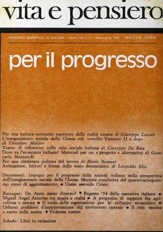 VITA E PENSIERO - 1975 - 2
