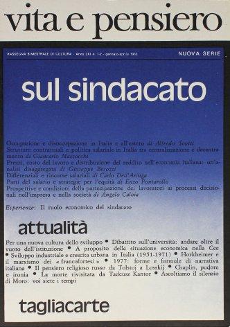 VITA E PENSIERO - 1978 - 1-2