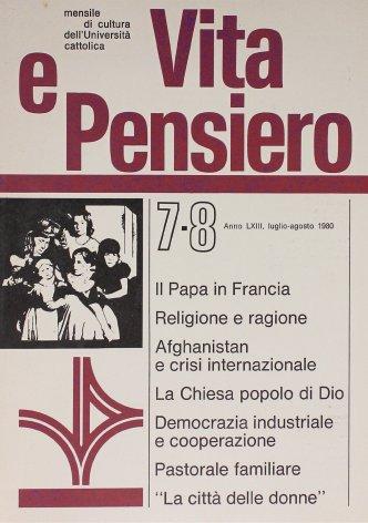 VITA E PENSIERO - 1980 - 7-8
