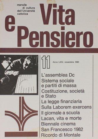 VITA E PENSIERO - 1981 - 11
