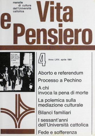 VITA E PENSIERO - 1981 - 4