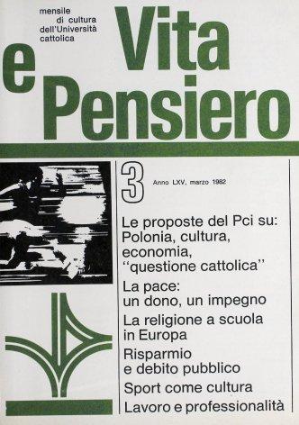 VITA E PENSIERO - 1982 - 3