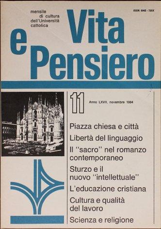 VITA E PENSIERO - 1984 - 11