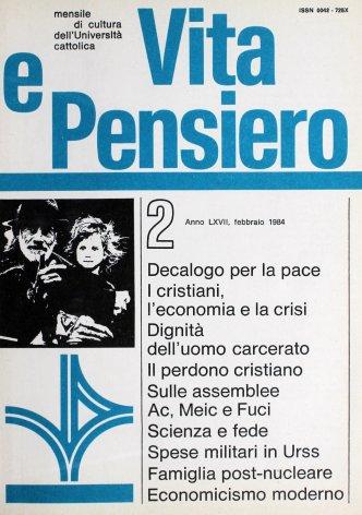 VITA E PENSIERO - 1984 - 2