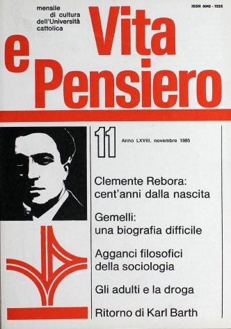 VITA E PENSIERO - 1985 - 11
