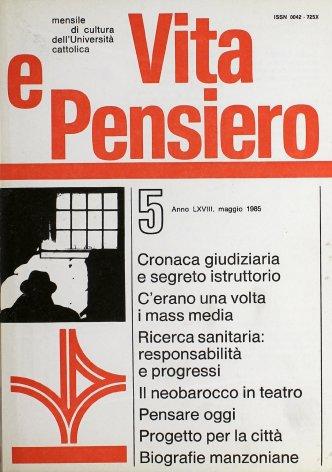 VITA E PENSIERO - 1985 - 5