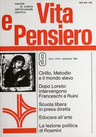 VITA E PENSIERO - 1985 - 9