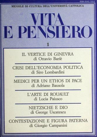 VITA E PENSIERO - 1986 - 1