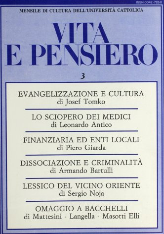 VITA E PENSIERO - 1986 - 3