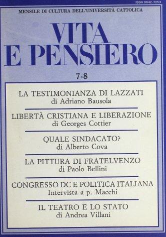 VITA E PENSIERO - 1986 - 7-8