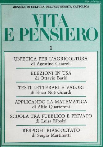 VITA E PENSIERO - 1987 - 1