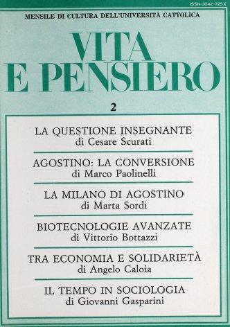 VITA E PENSIERO - 1987 - 2