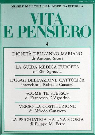 VITA E PENSIERO - 1987 - 4