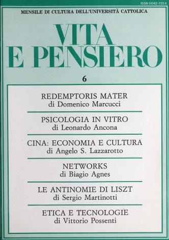 VITA E PENSIERO - 1987 - 6