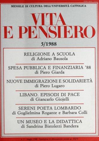 VITA E PENSIERO - 1988 - 5