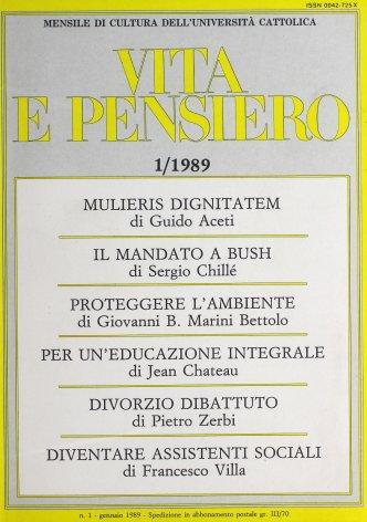 VITA E PENSIERO - 1989 - 1