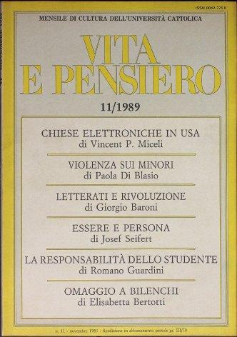 VITA E PENSIERO - 1989 - 11
