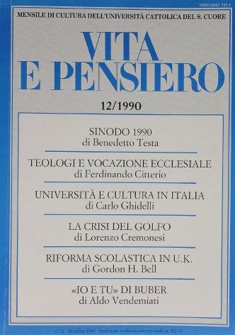 VITA E PENSIERO - 1990 - 12