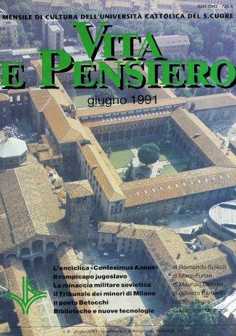 VITA E PENSIERO - 1991 - 6
