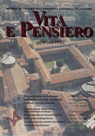 VITA E PENSIERO - 1992 - 1