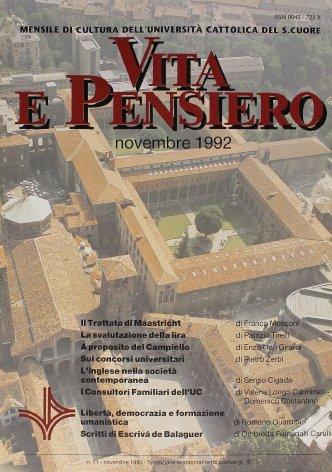 VITA E PENSIERO - 1992 - 11
