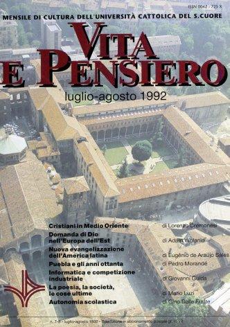VITA E PENSIERO - 1992 - 7-8