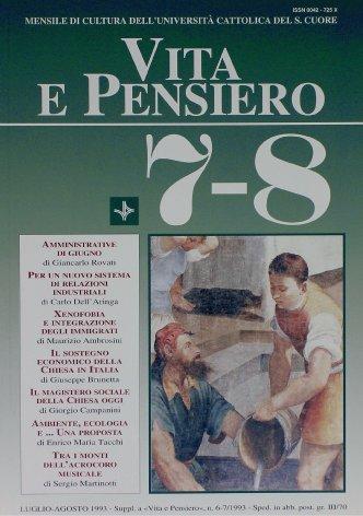 VITA E PENSIERO - 1993 - 7-8
