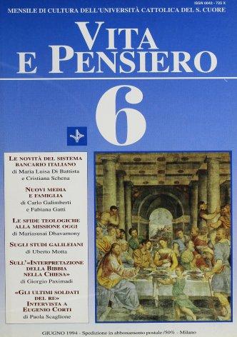 VITA E PENSIERO - 1994 - 6