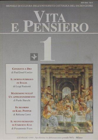 VITA E PENSIERO - 1995 - 1