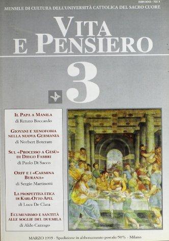 VITA E PENSIERO - 1995 - 3