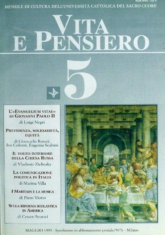 VITA E PENSIERO - 1995 - 5